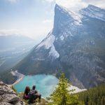beautiful mountain view, 2 people imaging